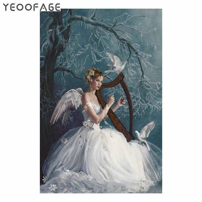 5D DIY Алмазная картина вышивка крестиком фея и голубь узор с алмазной вышивкой полная квадратная Стразовая вышивка живопись Домашний декор