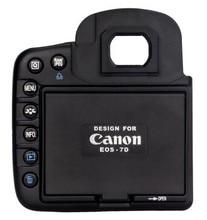 Камера жк-худа экран протектор и от солнца защитную крышку тень для камеры Canon EOS 7D сплит