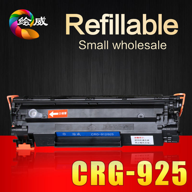 ФОТО Refillable CRG-925 725 325 112 312 712 912 compatible toner cartridge for Canon LBP 6000 6018 3010 3100 printers