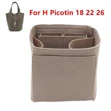 Adatto Per H Picotin 18 Borse Inserto Dellorganizzatore di Trucco secchio Borsa di lusso Portatile Cosmetico di base shaper per le donne della borsa