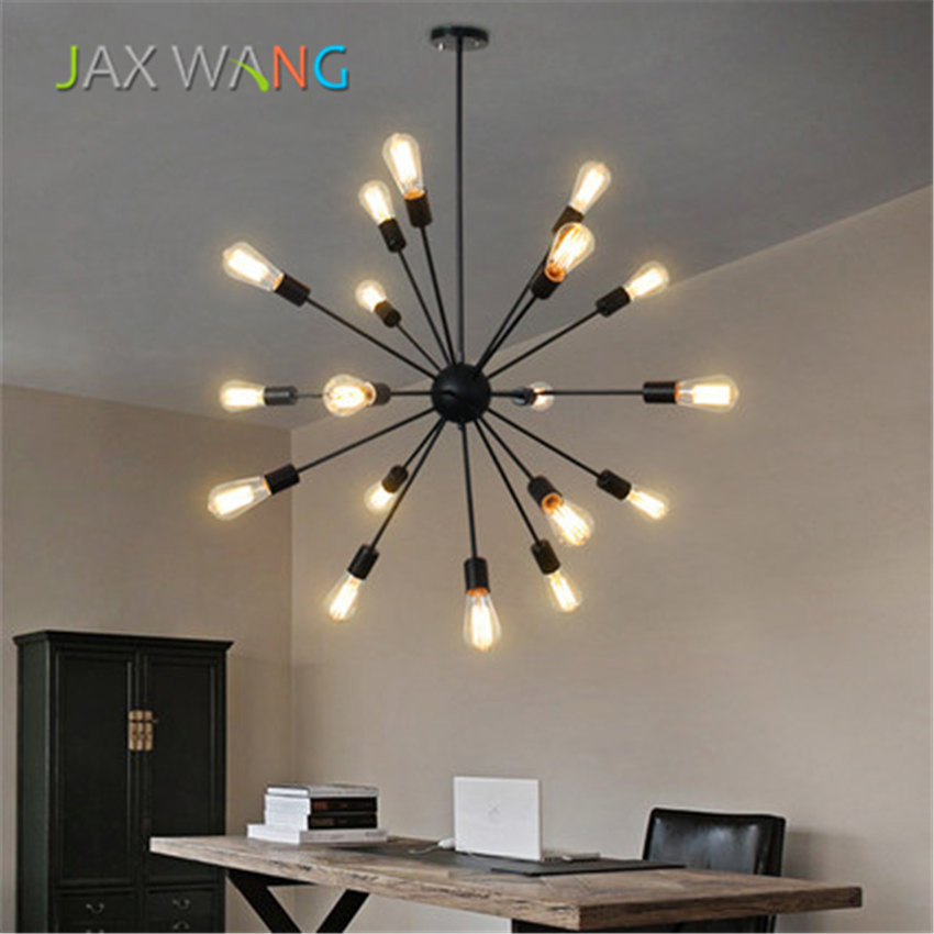Retro Industrial Wind Pendant Lights for Restaurant Living Room Hotel Office Lighting LED Decoration Hanging Light LuminaireRetro Industrial Wind Pendant Lights for Restaurant Living Room Hotel Office Lighting LED Decoration Hanging Light Luminaire