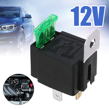 Black 4-Pin DC 12V 30A Car Normally Open Contacts Fused Relay On/Off With Bracket for Car Interior Parts цена 2017