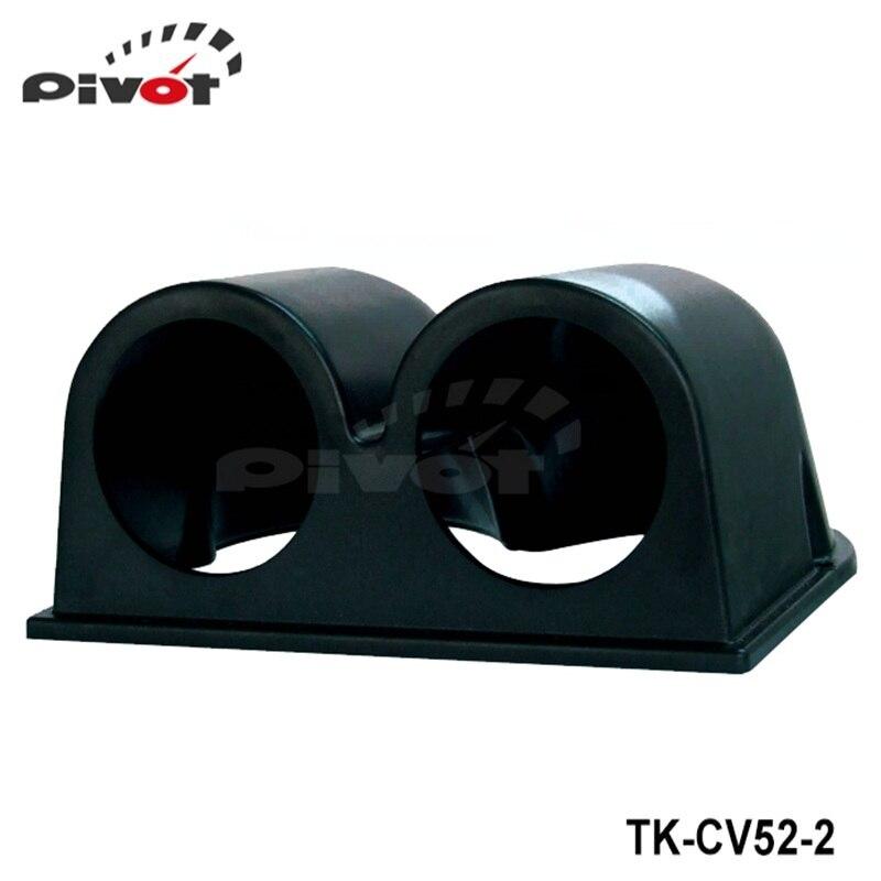 "Tansky Black 2"" 52mm UNIVERSAL 2 DUAL HOLE DASH GAUGE METER POD MOUNT HOLDER ABS For FORD MONDEO 2.2 TK-CV52-2"
