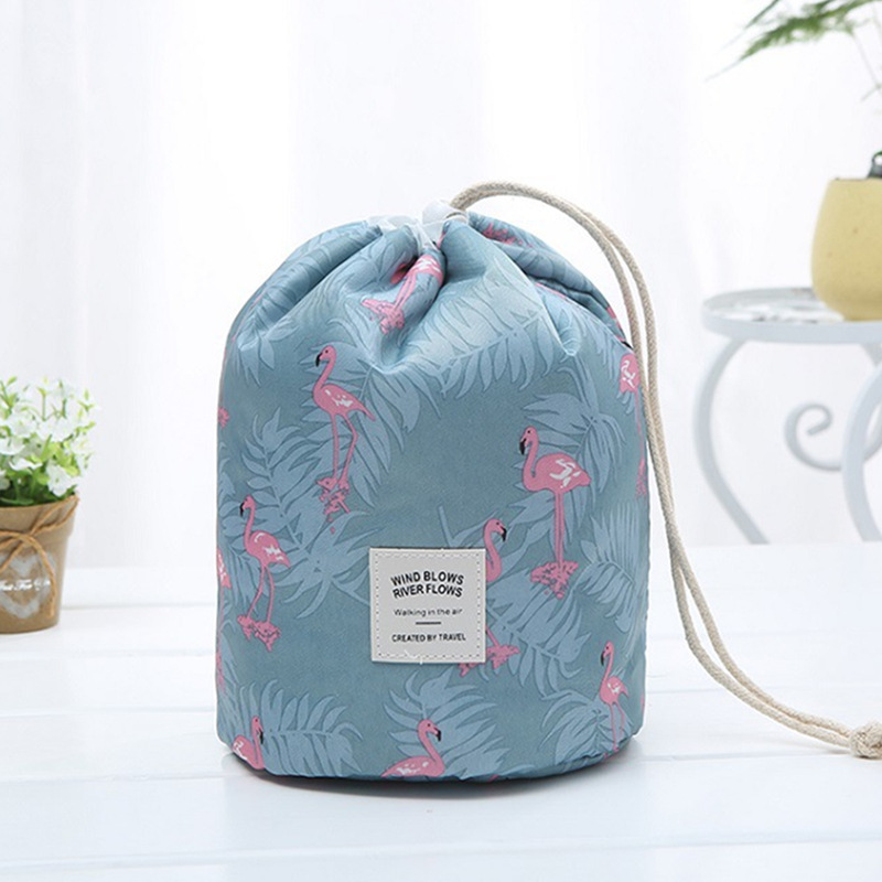 Image 5 - Oxford Cloth Travel Accept Crystal Box Flower Colour Cylinder Makeup Organizer Acrylic Drawcord Cosmetic Package Make Up Bag-in Makeup Organizers from Home & Garden