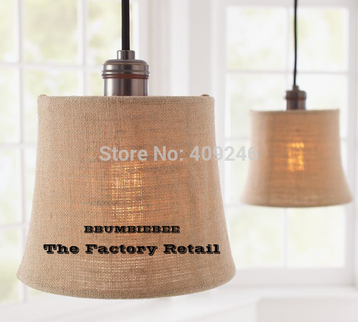 American Village Style Linen ART Round Copper Lamp Holder Pendant Lamp For Dining Room copper bathroom shelf basket soap dish copper storage holder silver