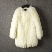 Mongolia Sheep fur coat 100%natural furreal fur coat china real fur coats for women winter coat women