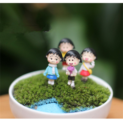 4 PCS / Mini indah kimono gadis / peri taman gnome / terraium - Dekorasi rumah - Foto 2