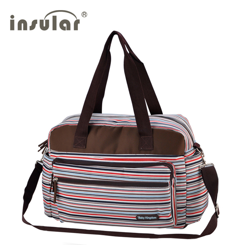 multicolored stripe maternity mother mummy nappy bags multifunctional stroller bags shoulder handbag baby diaper bag