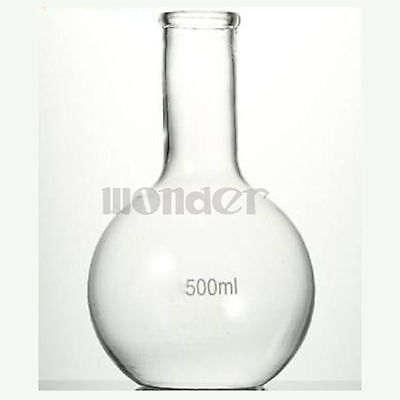500ML Single Long Neck Flat Bottom Flask Thermostability For Laboratory