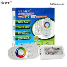цена на BLYN 16Million Color RF Touch Panel Remote RGBW RGB Controller 2.4G DC12/24V 18A Wireless LED Strip Controller For LED Strip