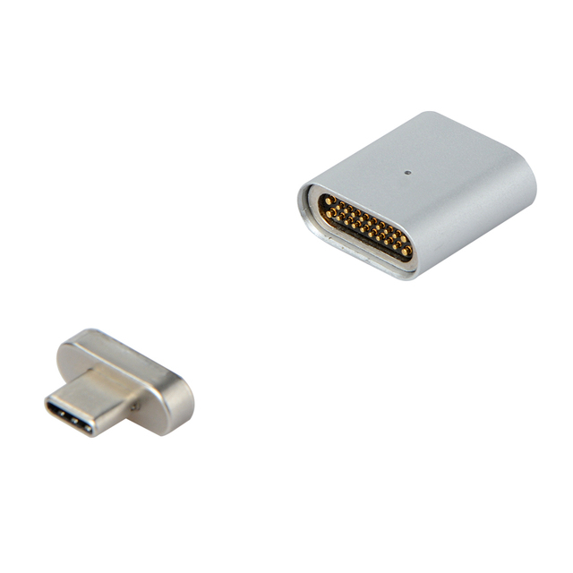 New 20 PIN Type C Magnetic Adapter For Macbook Pro MateBook Fast Charging TYPE C Port Laptop Magnet USB C Data Cable Adapter