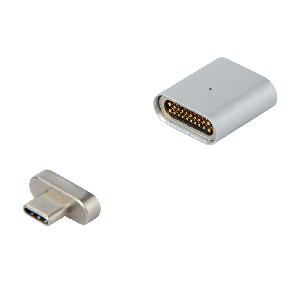 New 20 PIN Type C Magnetic Adapter For Macbook Pro MateBook Fast Charging TYPE-C Port Laptop Magnet USB-C Data Cable Adapter