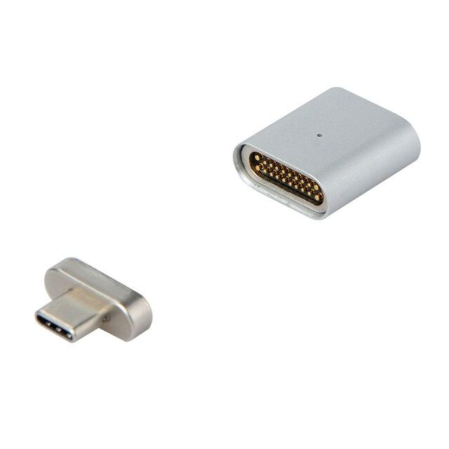 Nuovo 20 PIN di Tipo C Adattatore Per Macbook Pro MateBook Magnetica di Ricarica Veloce TYPE C Porta Del Computer Portatile Magnete USB C Cavo Dati adattatore