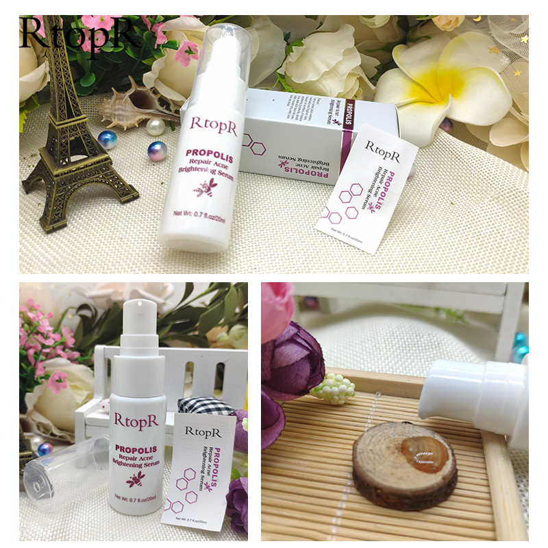 RtopR Propolis Repair Acne Brightening Serum Acne Scar Spots Cleaning Serum Shrink Pores Eliminates Acne Treatment Oil control