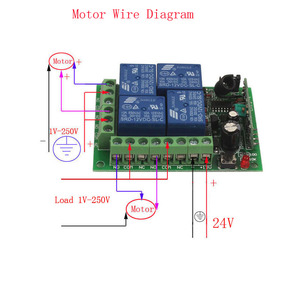 Image 5 - Sleeplion 100 Metre 24V 4CH uzaktan kumandalı anahtar Elektrikli kapı uzaktan kumandası Anahtarı Evrensel 24V 4CH 315 MHz/433 MHz Alıcı