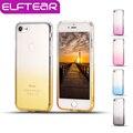 ELFTEAR Cor Gradiente Transparente Soft Case Para 6 6 s 6 Mais 6 s mais 7 7 plus Ultra Fina Magro Limpar TPU Silicone Tampas Do Telefone