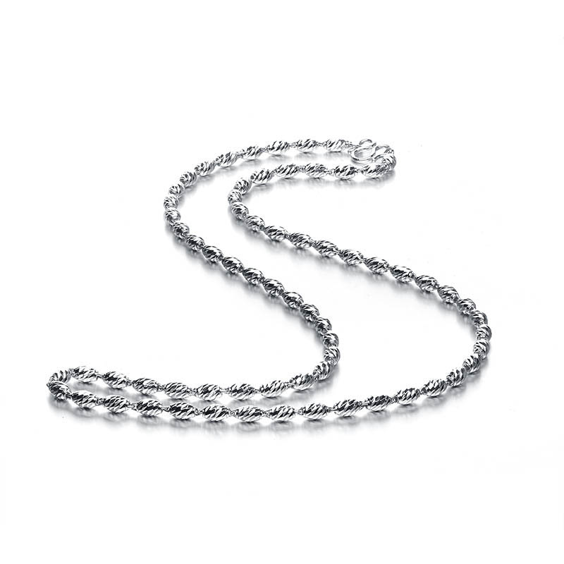 Collier de chaîne de perles ovales en or pur de 21 pouces collier pour hommes en or lourd 16.28g