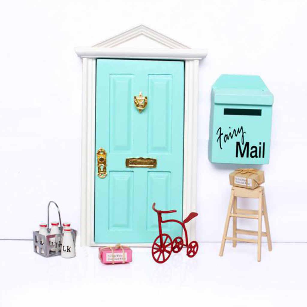 1/12 mobiliário casa de bonecas mini cesta de leite metal com 4pcs garrafas de madeira conjunto modelo kits de construção casa de bonecas decoração acessório
