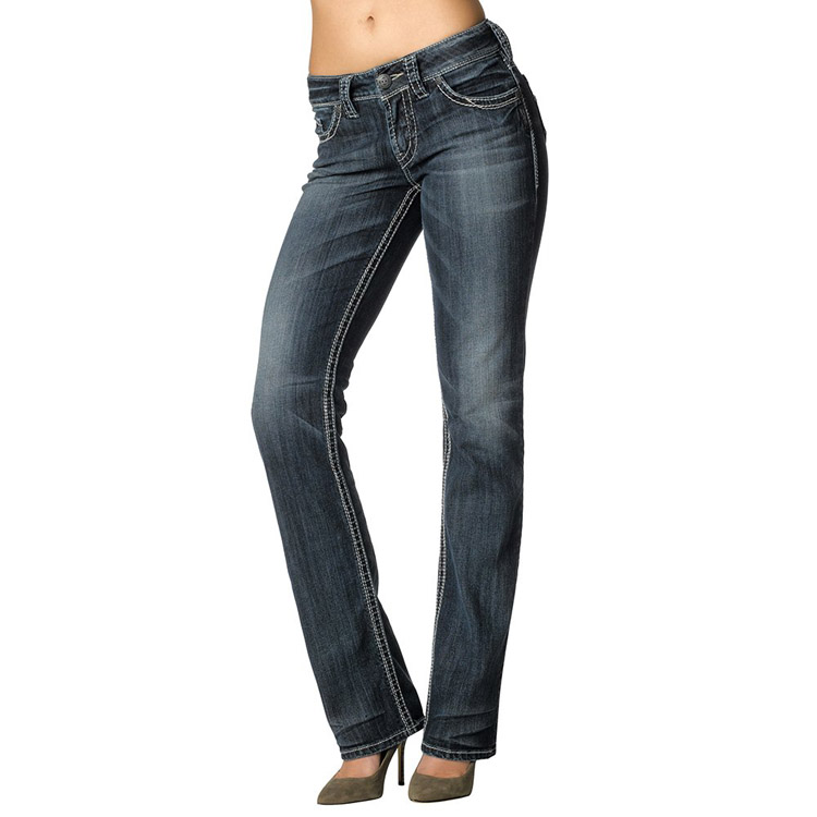 ff6c4ded 2017 New Silver Jeans Suki Straigth for Women 100% Original High Quality  Famous Brand Woman's Trousers Denim Slim Jean Pants-in Jeans from Women's  Clothing ...