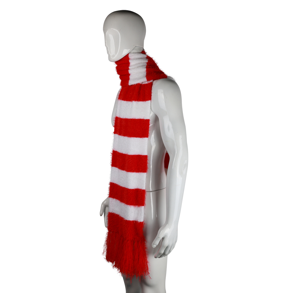 2018 Cartoon The Grinch Scarf Red And White Scarf Cosplay The Grinch Costume Chrismas Gift Halloween Party Prop (11)