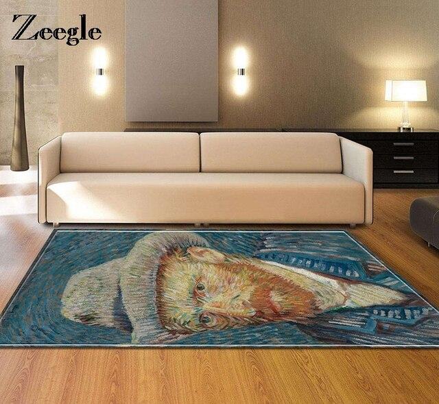 Us 420 Zeegle Van Gogh Oleju Wzór Dywan Dla Salon Sypialnia Dziecko Mata Podłogowa Anti Slip Kuchnia Dywan Stolik Mata Wycieraczka W Zeegle Van