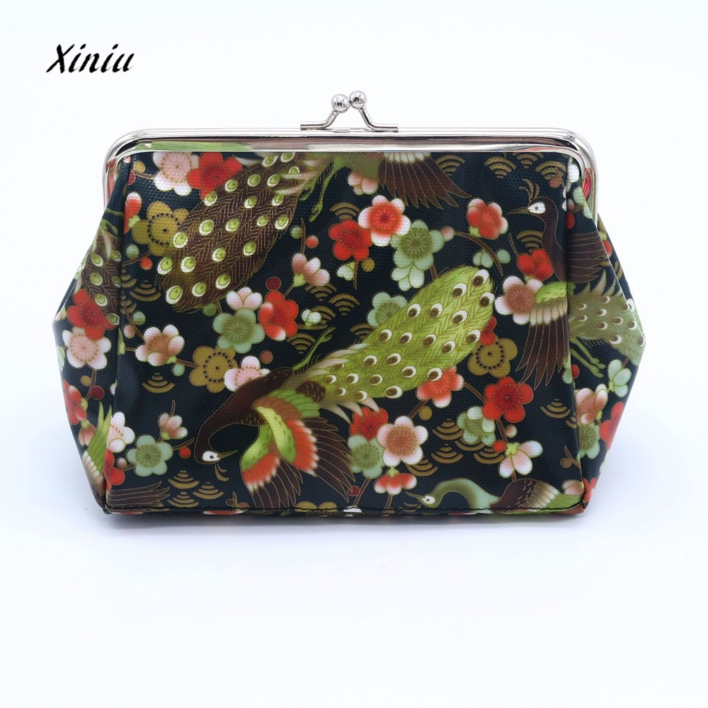 Retro Vintage Bird Pattern Women Lady Small Wallet Hasp Coin Purse Ladies Girl Money Change Clutch Bag HOT NEW Arrival