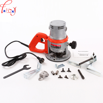 1PC 220V High Power Woodworking Engraving Machine Repair And Mechanical Wood Milling Machine + 12PCS Milling Cutter 1600W