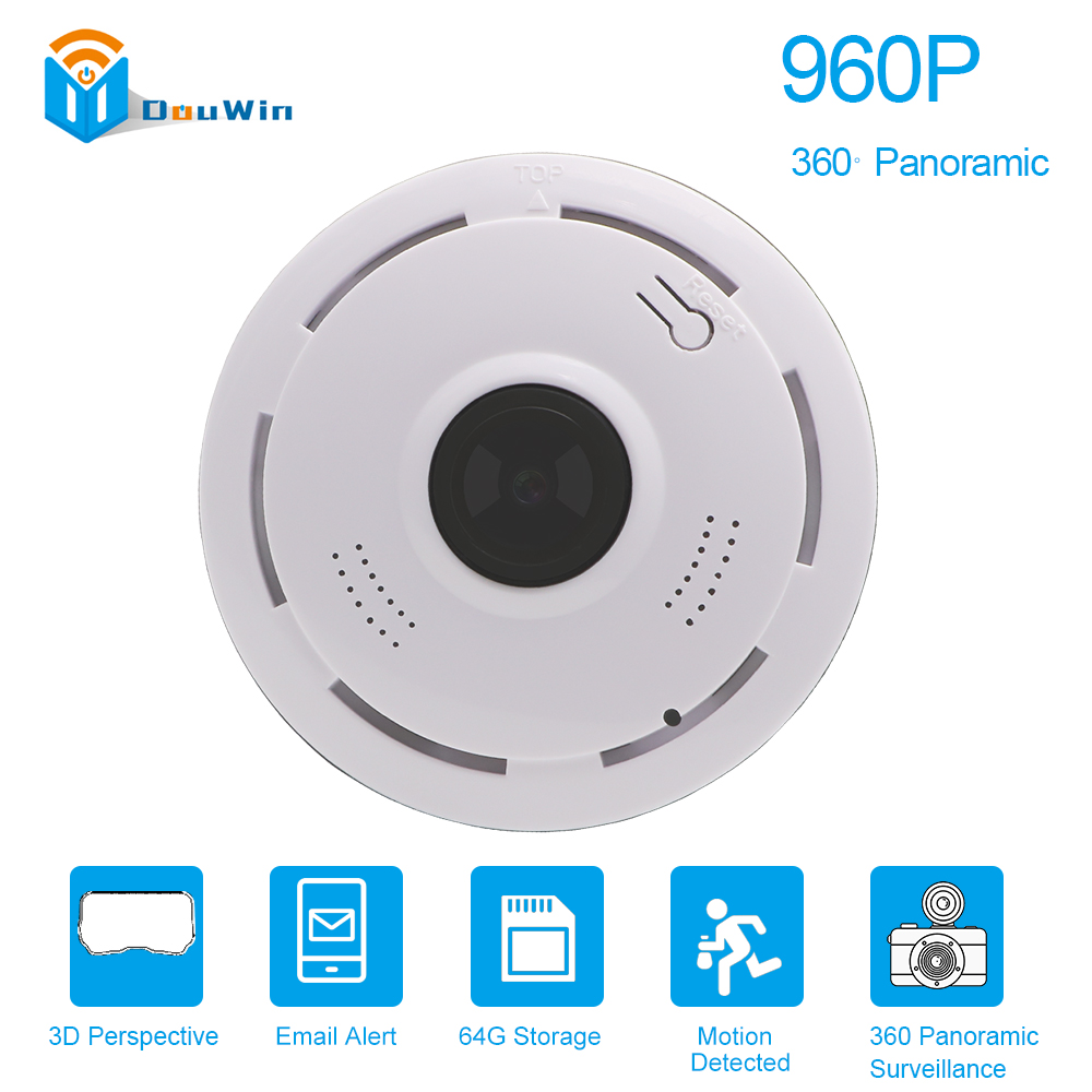 960P IP Camera wifi Panoramic HD VR 360 degree IR Wireless 1.3MP P2P Home Security Night Version Surveillance Baby Monitor CAM howell wireless security hd 960p wifi ip camera p2p pan tilt motion detection video baby monitor 2 way audio and ir night vision