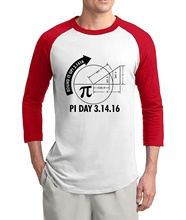 Adult Pi Day 3.1416 Round It Up Math Graph science tshirt 2017 summer hot sale 3/4 sleeve t shirt 100% cotton raglan men t-shirt