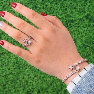 Image 1 - GODKI Luxury Trendy Saudi Arabia Bangle Ring Set Jewelry Sets For Women Wedding Engagement brincos para as mulheres 2019