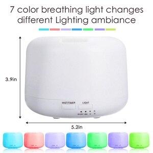 Image 2 - 300 مللي زيت طبيعي ناشر رائحة 2 مستويات قابل للتعديل ضباب صانع بالموجات فوق الصوتية الهواء المرطب مع 7 ألوان LED ضوء الليل