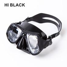 2018 איכות גבוהה סיליקון שחייה מסכות goggle מקצועי מזג זכוכית צלילה מסכה קוצר ראייה צלילה מסכות העדשה מרשם