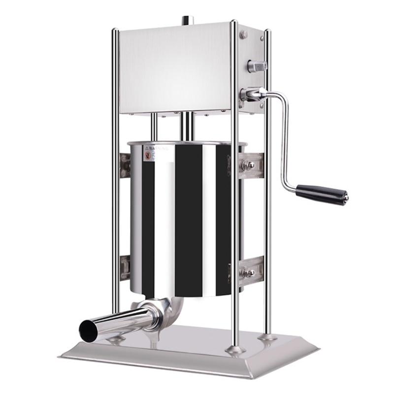 10L Manual Sausage Machine Household Thick Stainless Steel Sausage Stuffer Efficient Vertical Ham Making Machine
