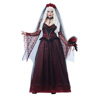 UTMEON Sexy Adult Women's Halloween Costume Party Bride Red Lace Costumes Outfit Fancy Vampires Zombie Cosplay Dresses