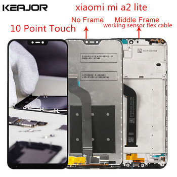For Xiaomi Mi A2 Lite Lcd Screen Tested AAA Lcd Display+Touch Screen with Frame Replacement For Xiaomi Mi A2 Lite 5.84inch