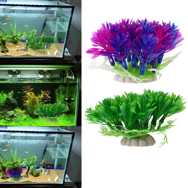 Buy aquarium fish tank decoration for Artificial fish pond plants