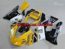 Мотоцикл Обтекатель комплект для 2000 2001 YAMAHA YZF R1 YZF-R1 YZF1000 YZFR1 00 01 MOTUL Желтый белый черный Обтекатели комплект + 7 подарки
