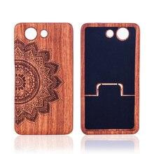 Wood Case Для Sony Xperia Z3 Compact Mini M55W Case Cover 3D Лазерной Гравировкой Узоры Деревянные Case Для Sony Z3 mini Деревянные Case