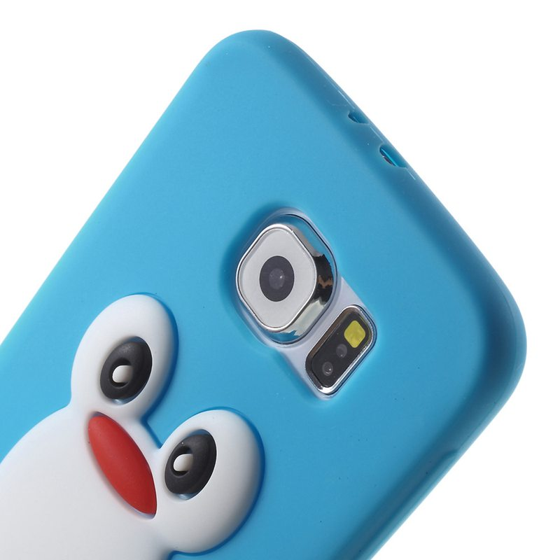 Wonderfultry Case Capa For Galxy S 6 G920 Silicone Cases 3D Penguin Soft Silicone Phone Cover Coque for Samsung Galxay S6 G920