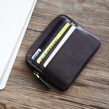 LANSPACE мужской кожаный кошелек, брендовый кошелек, держатель для карт, модные кошельки для монет, держатели