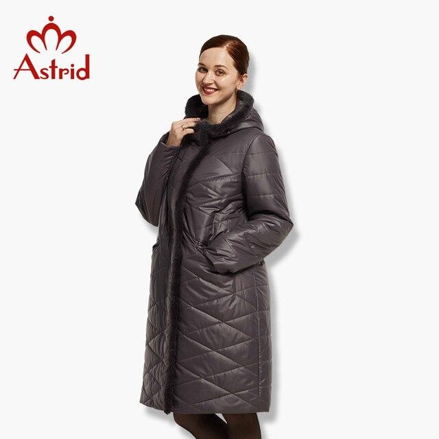 2017 Астрид Пальто зимнее с натуральным мехом зимние куртки женские большие в зиму большие Мужские парки новая зимняя хлопковая верхняя одежда AM-1849
