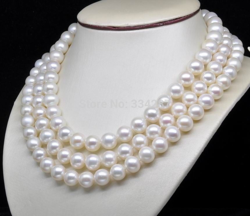 10x10 jewerly freeshipping Natural AAA+ GRADE 7 8MM WHITE PEARL NECKLACE 60 Long