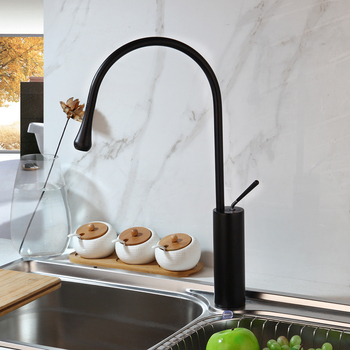 Brush Golden Kitchen Faucet Solid Brass Counter Top Mixer Tap Washing Sink Faucet Modern Black Bathroom Faucet