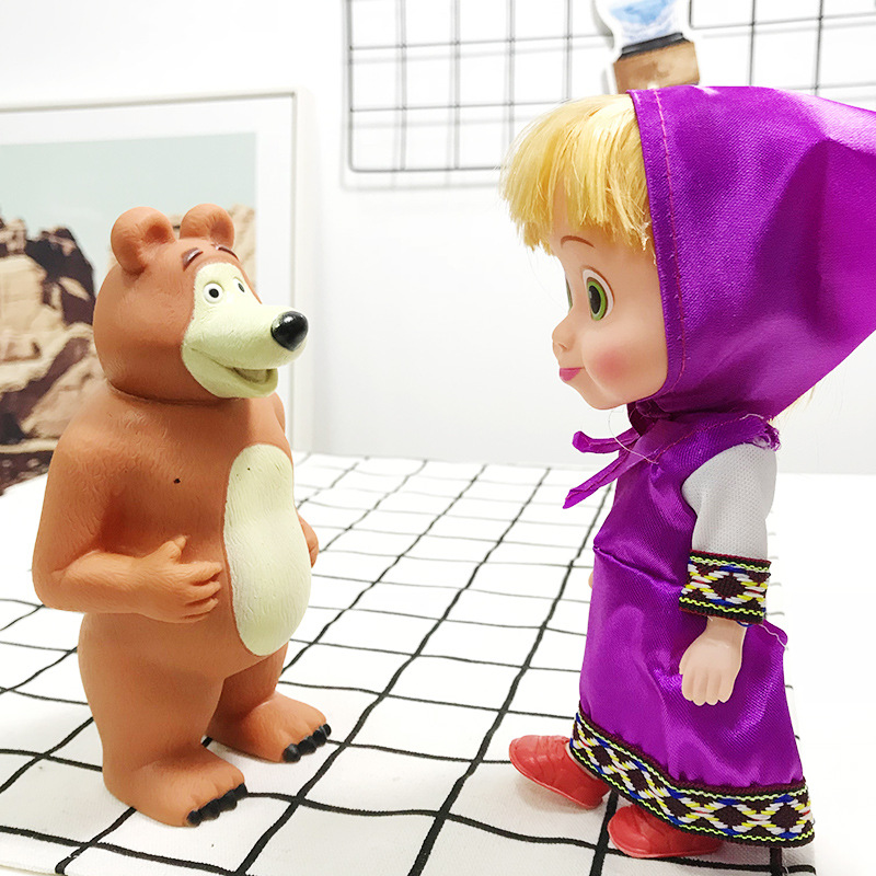 4 style Masa and the Bear Plush Dressed Toy Doll Figure Plush Toys Hot Kid gift