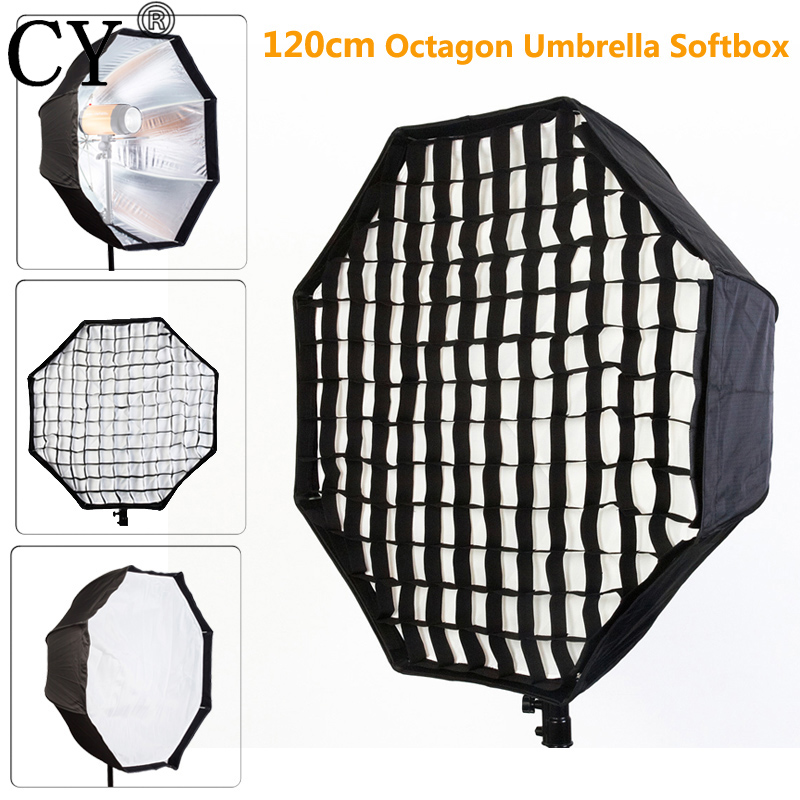 Photo Studio 120cm Octagon Umbrella Softbox Diffuser Reflector with Nylon Gird for Speedlite Flash Photography Studio