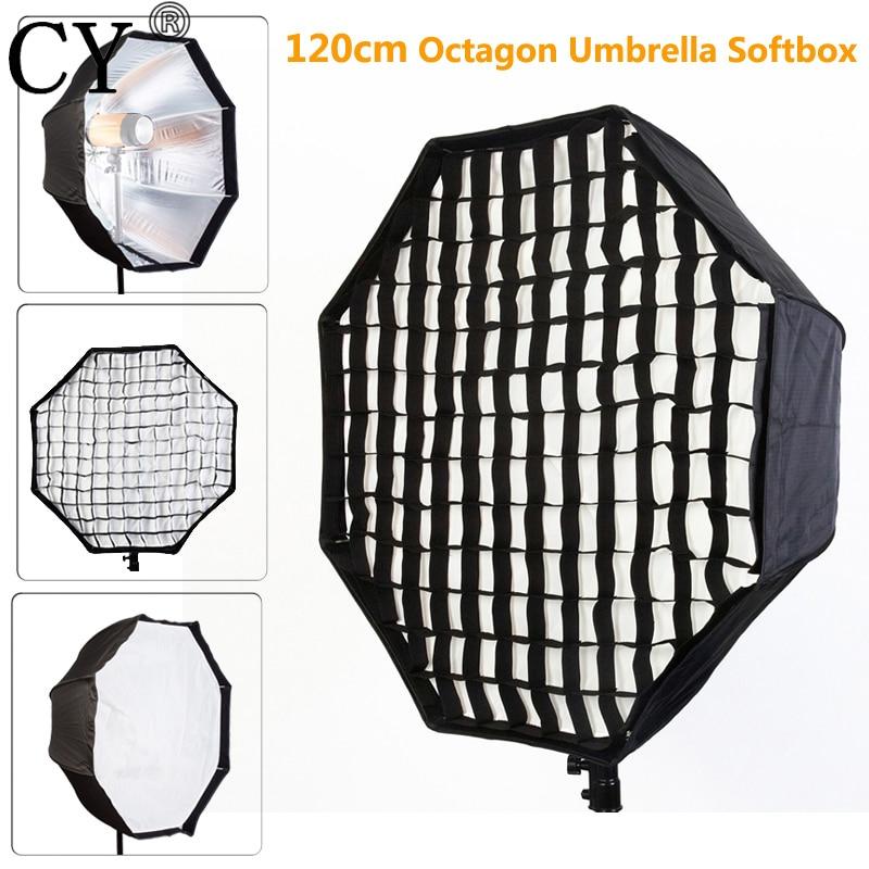 Photo Studio 120cm Octagon Umbrella Softbox Diffuser Brolly Reflector With Gird for Speedlite Flash Photography Studio Soft Box