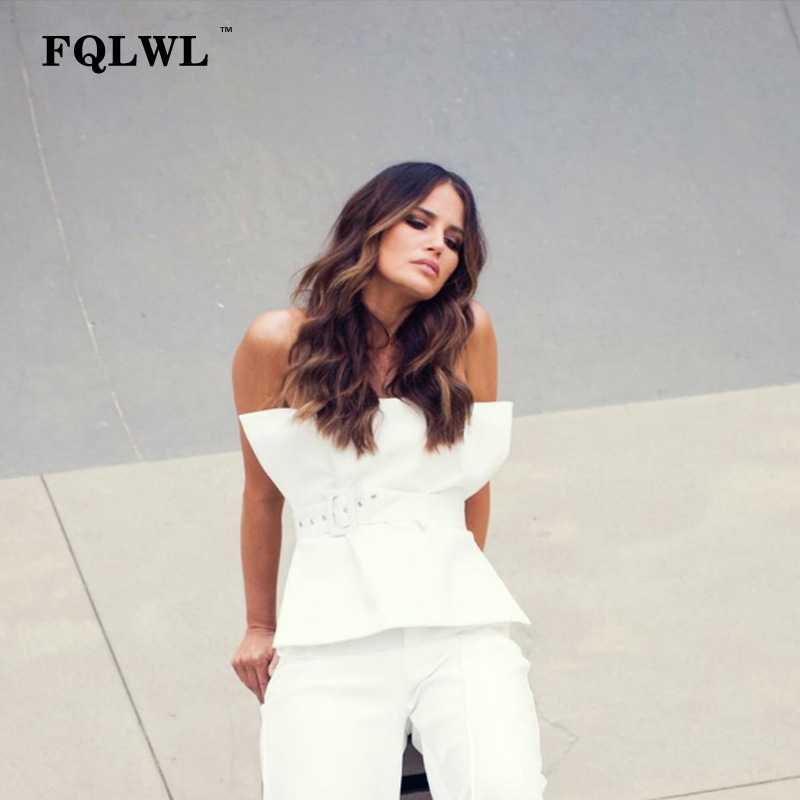 014dd6973950e4 ... FQLWL пикантные с открытыми плечами женский короткий Топ без бретелек  спинки тонкий черный, белый цвет ...