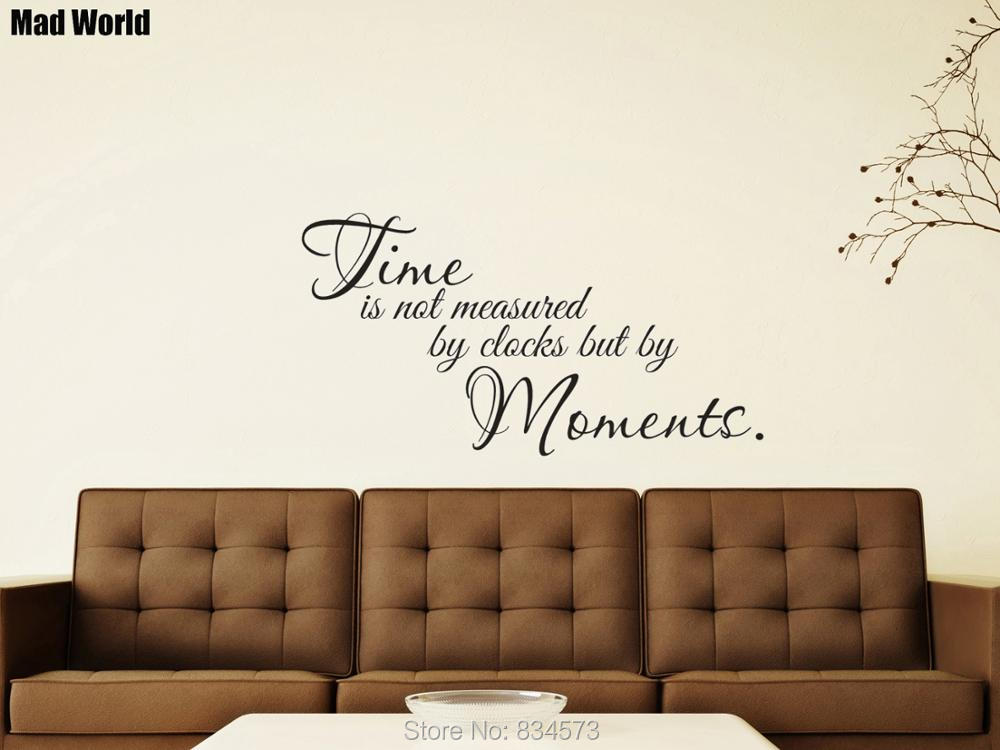 Time Is Not Measured By Clocks But Moments Wall Art Stickers Wall Decals Home Diy Decoration Removable Room Decor Wall Stickers Wall Stickers Aliexpress