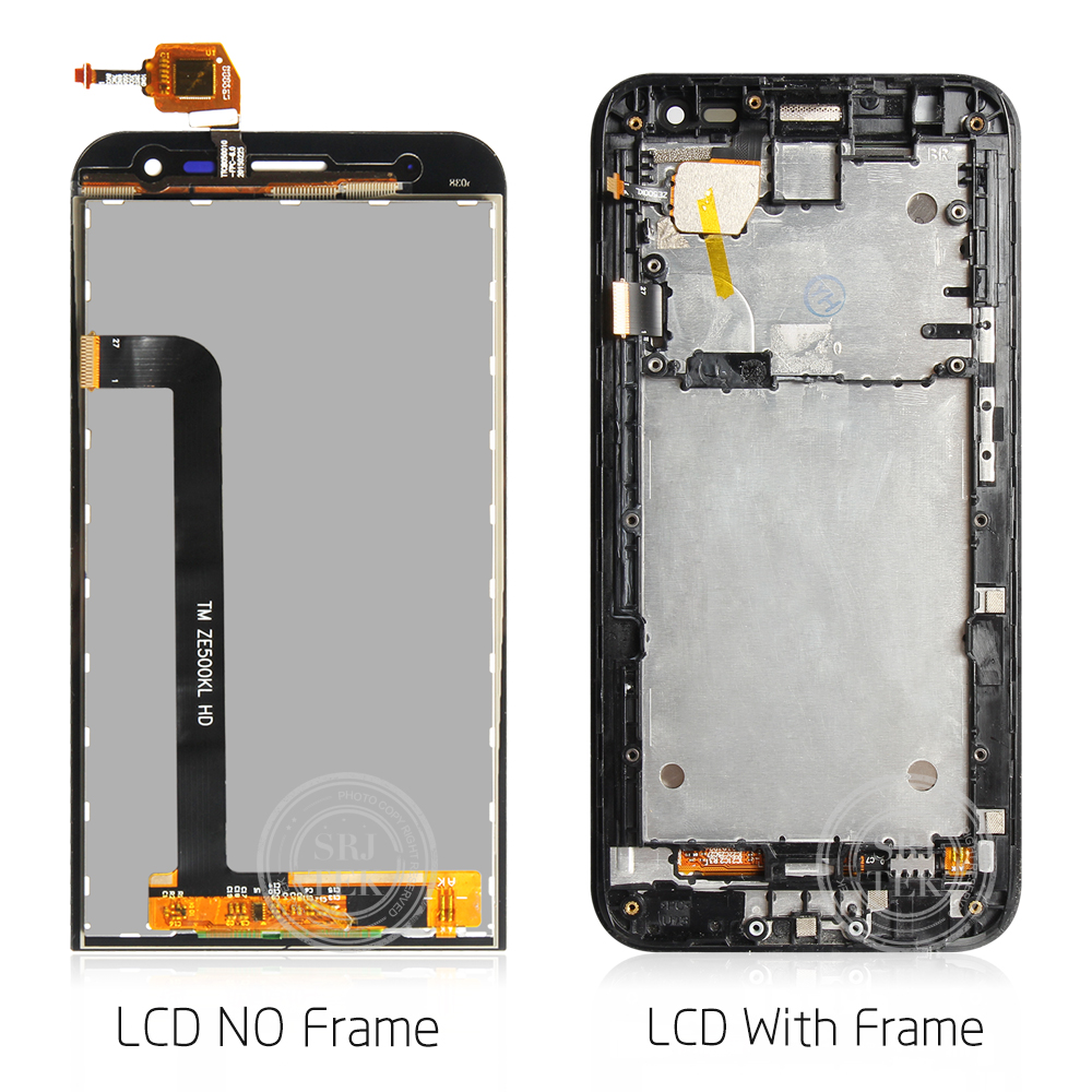 Image 4 - Original For ASUS Zenfone 2 Laser ZE500KL LCD Display Touch Screen with Frame ASUS ZE500KL ZE500KG Z00ED Display WarrantyMobile Phone LCD Screens   -