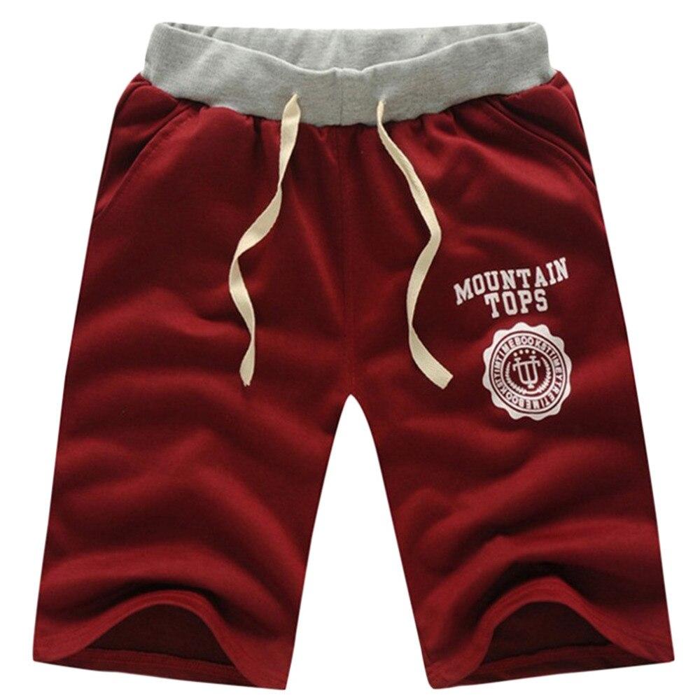 Summer Men Casual Beach Shorts Five Sub Pants Waistband Classic